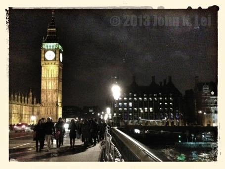 London's Big Ben at night