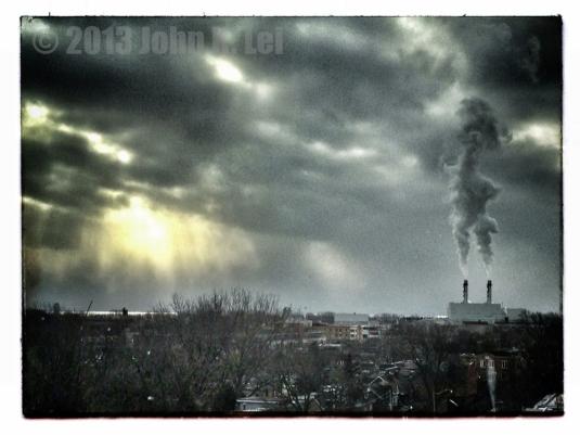 Ominous smoke stacks