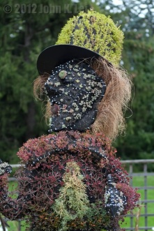 A Mad Hatter plant sculpture